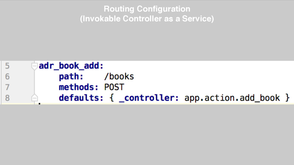 Routing Configuration (Invokable Controller as ...