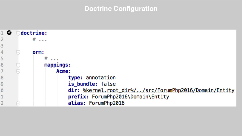 Doctrine Configuration