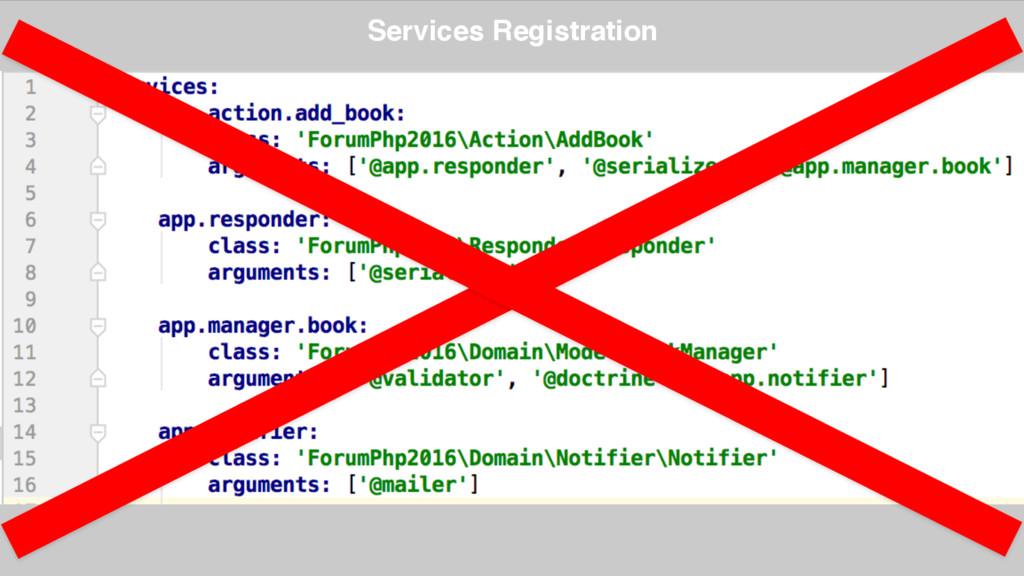 Services Registration
