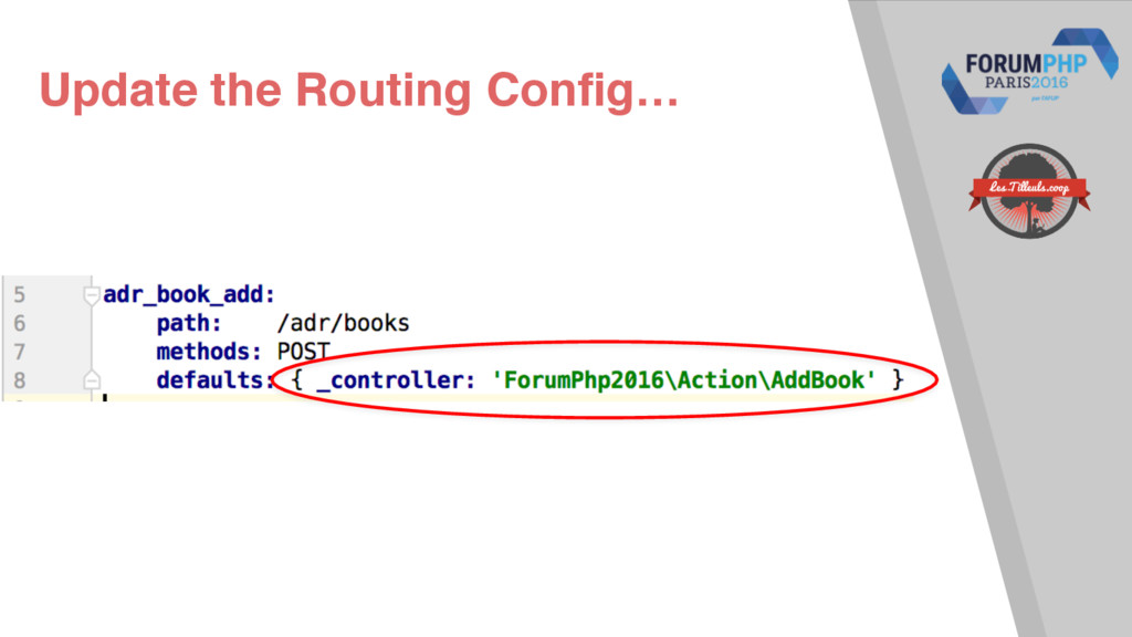 Update the Routing Config…