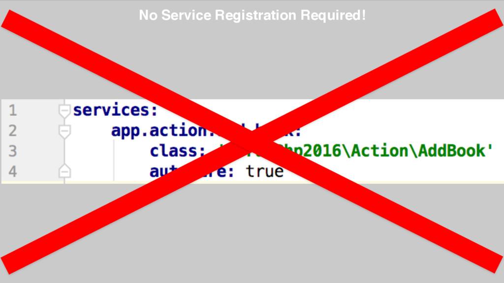 No Service Registration Required!