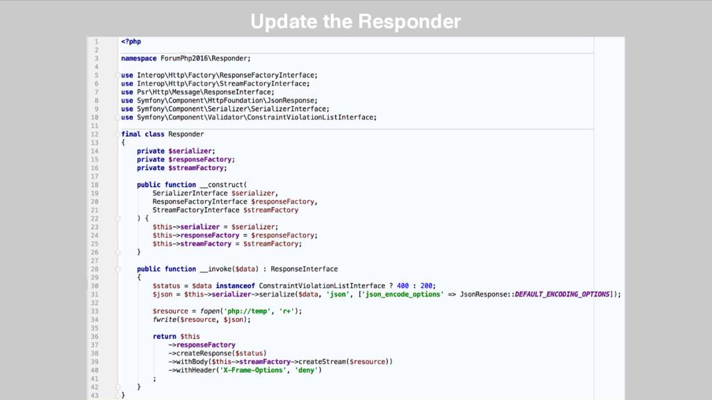 Update the Responder