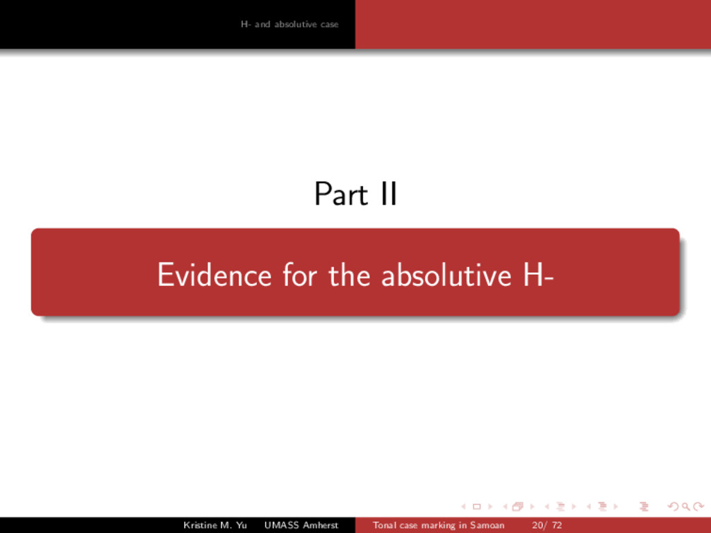 H- and absolutive case Part II Evidence for the...