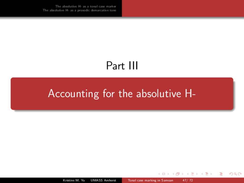 The absolutive H- as a tonal case marker The ab...