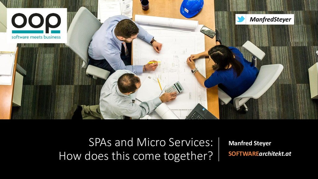 @ManfredSteyer SPAs and Micro Services: How doe...