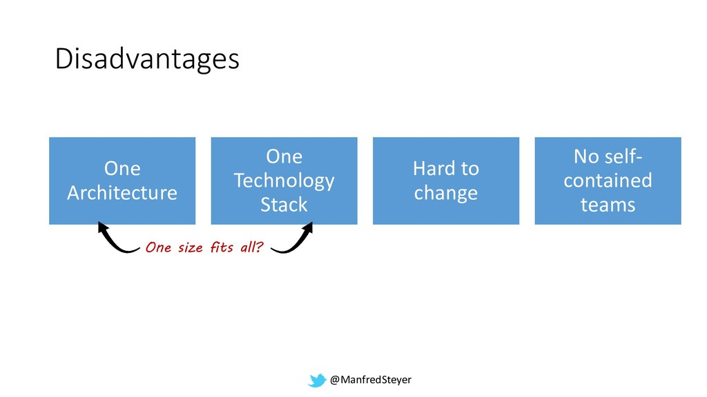 @ManfredSteyer Disadvantages One Architecture O...