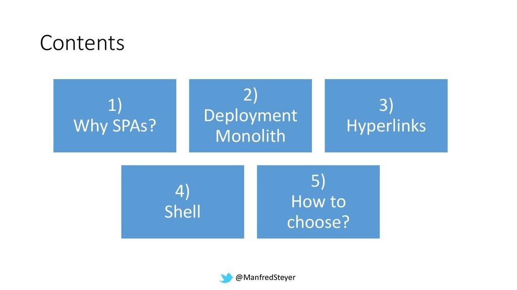 @ManfredSteyer Contents 1) Why SPAs? 2) Deploym...