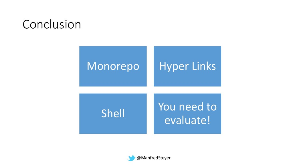 @ManfredSteyer Conclusion Monorepo Hyper Links ...