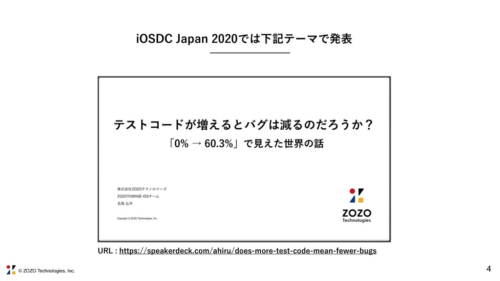 © ZOZO Technologies, Inc. 4 J04%$+BQBOͰԼ...