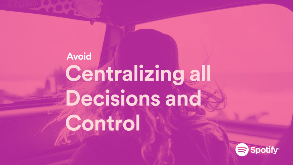 Centralizing all Decisions and Control Avoid