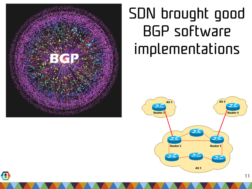 11 SDN brought good BGP software implementations