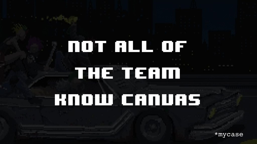 Not all of the team know canvas *mycase