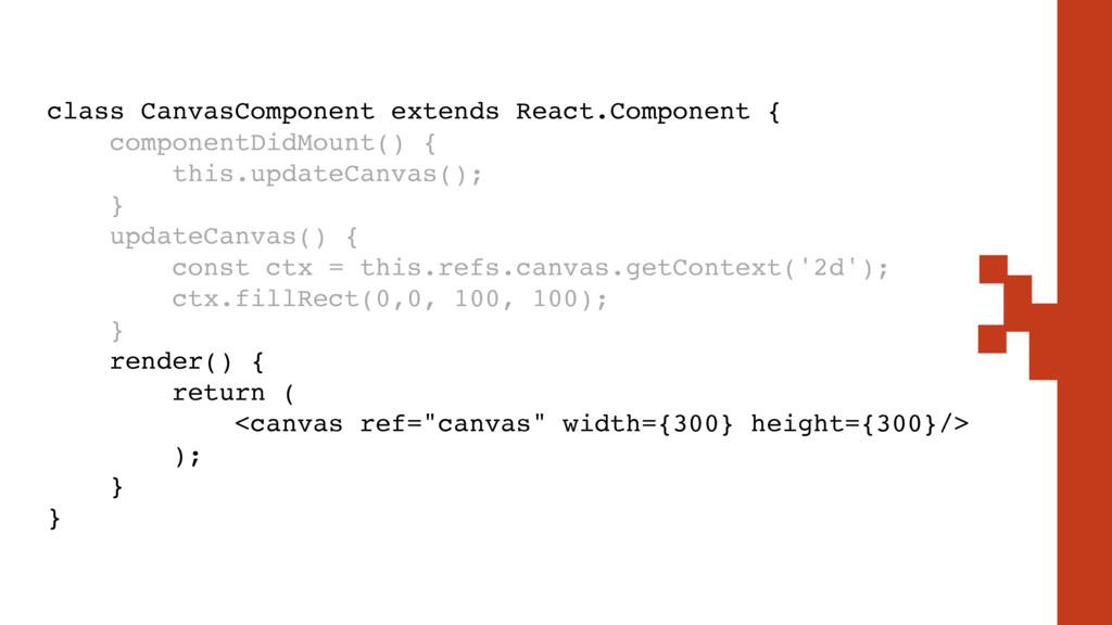 class CanvasComponent extends React.Component {...
