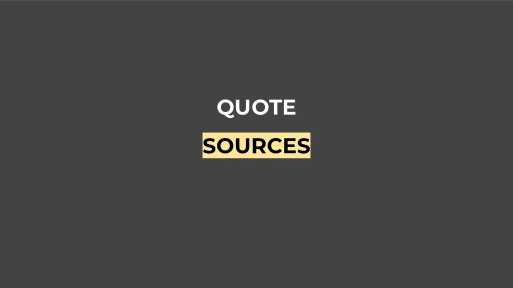 QUOTE SOURCES