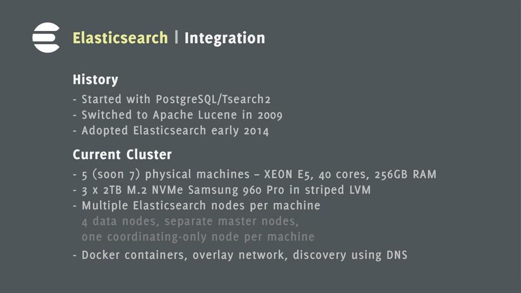 13 Elasticsearch | Integration History - Starte...