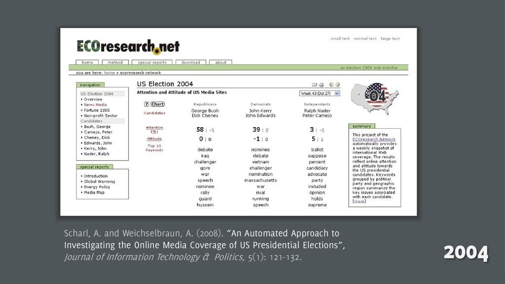 4 2004 Scharl, A. and Weichselbraun, A. (2008)....