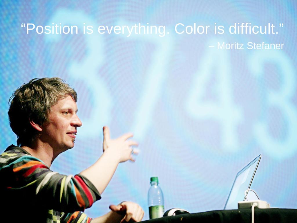 "Moritz Stefaner ""Position is everything. Color ..."