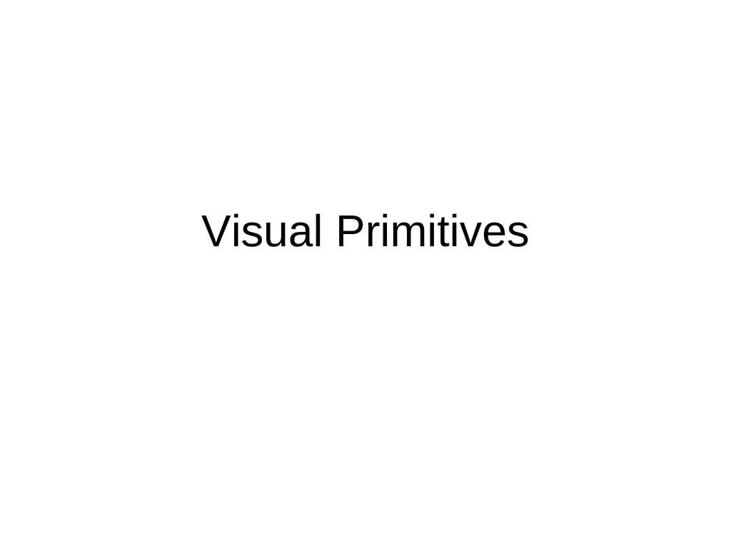 Visual Primitives