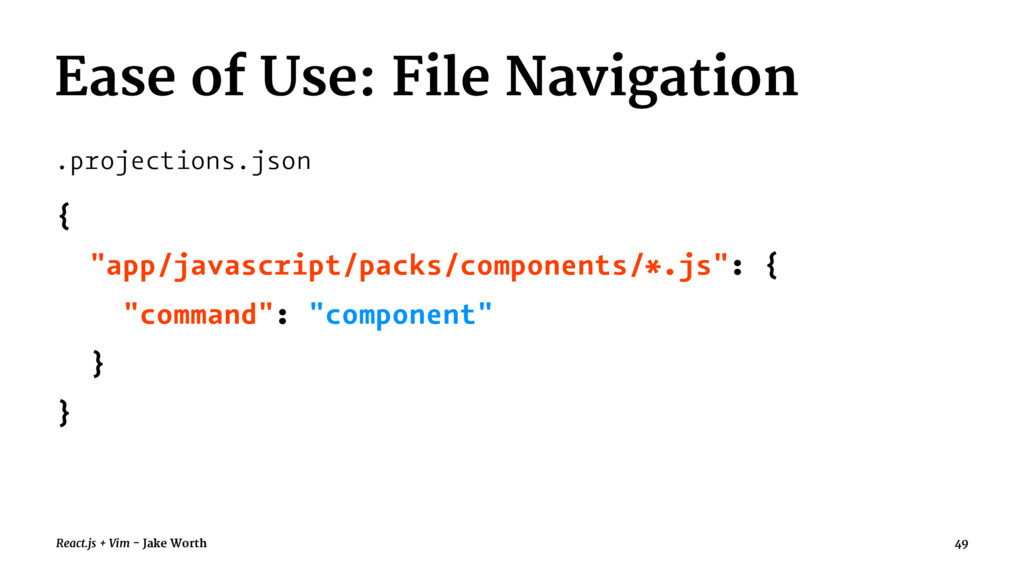 Ease of Use: File Navigation .projections.json ...
