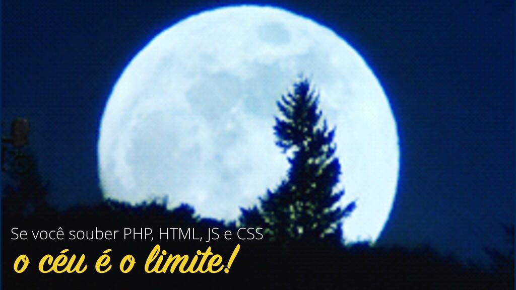 o céu é o limite! Se você souber PHP, HTML, JS ...