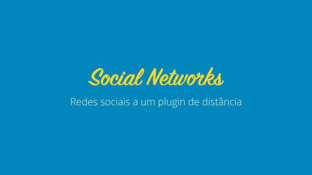 Redes sociais a um plugin de distância Social N...