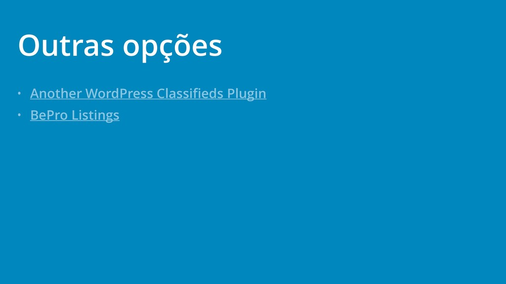 • Another WordPress Classifieds Plugin • BePro L...