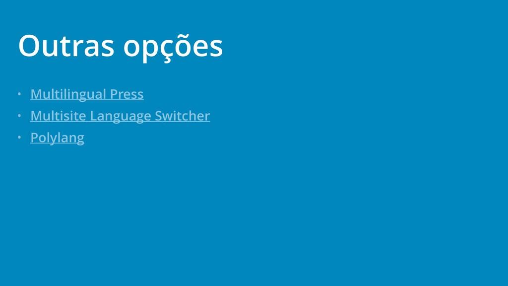 • Multilingual Press • Multisite Language Switc...