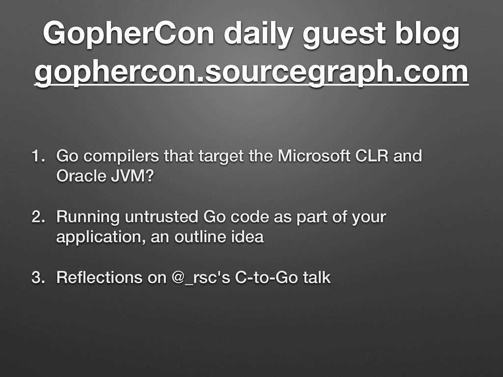 GopherCon daily guest blog gophercon.sourcegrap...