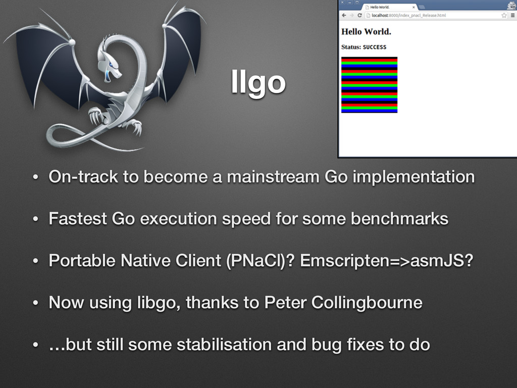 llgo • On-track to become a mainstream Go imple...