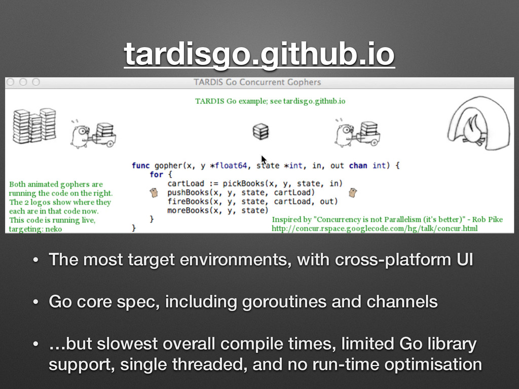 tardisgo.github.io • The most target environmen...