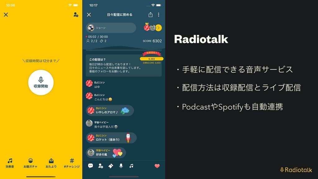 Radiotalk ɾखܰʹ৴Ͱ͖ΔԻαʔϏε   ɾ৴ํ๏ऩ৴ͱϥΠϒ৴   ...