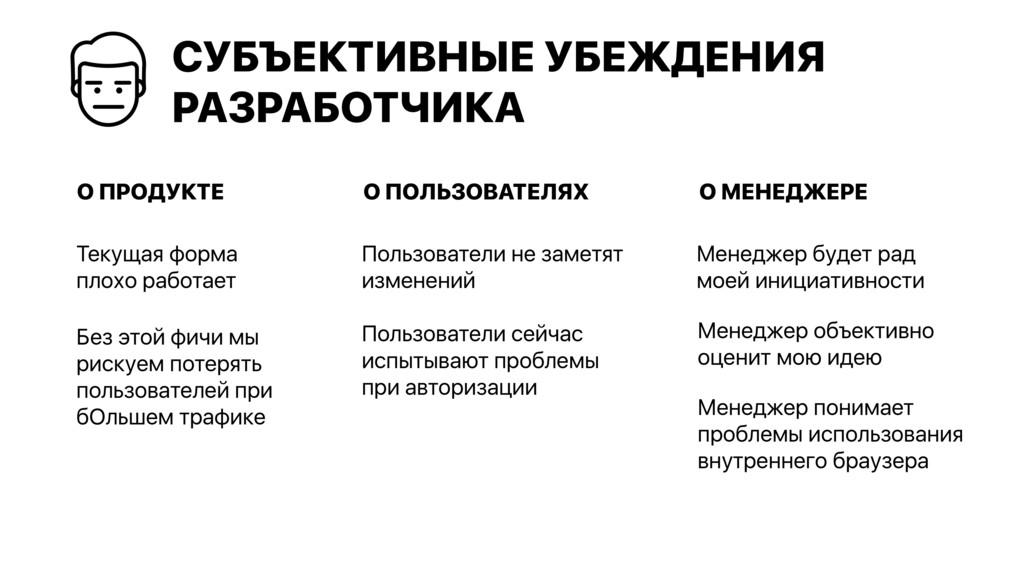 О МЕНЕДЖЕРЕ СУБЪЕКТИВНЫЕ УБЕЖДЕНИЯ РАЗРАБОТЧИКА...
