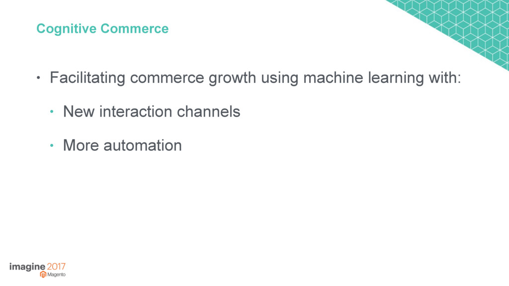 Cognitive Commerce • Facilitating commerce grow...