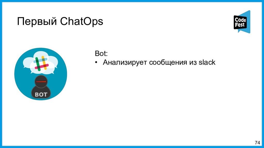 Первый ChatOps 74 Bot: • Анализирует сообщения ...
