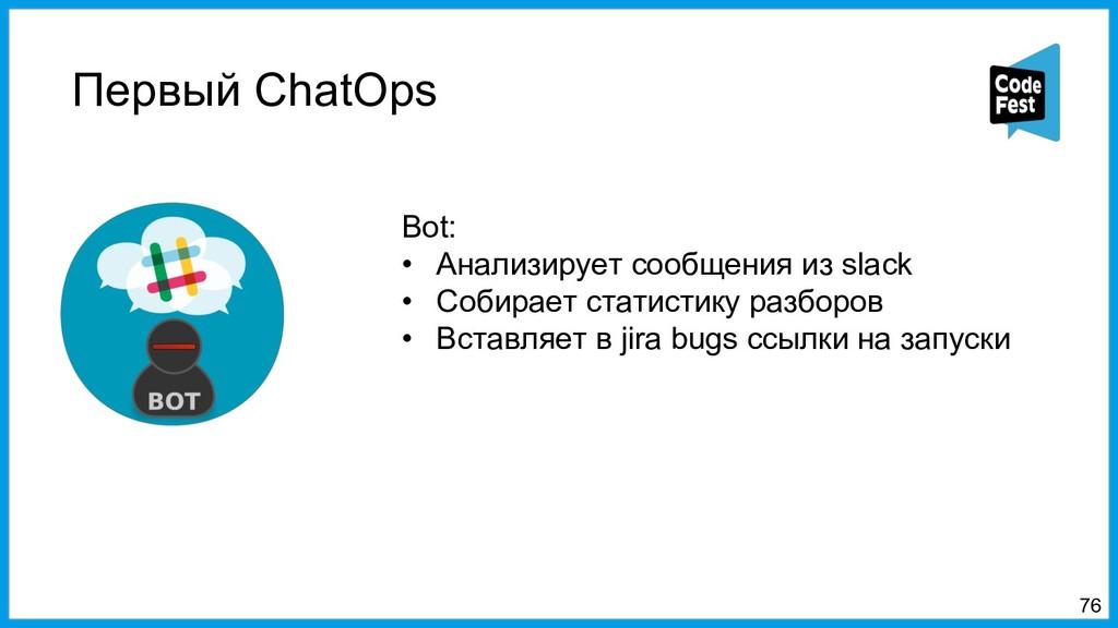 Первый ChatOps 76 Bot: • Анализирует сообщения ...