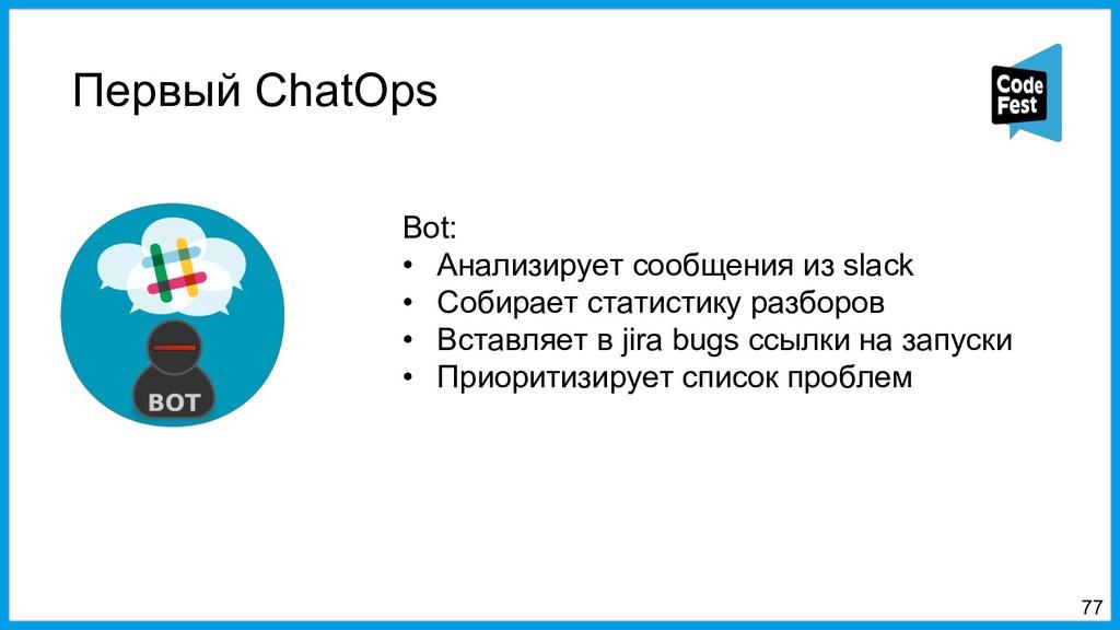 Первый ChatOps 77 Bot: • Анализирует сообщения ...