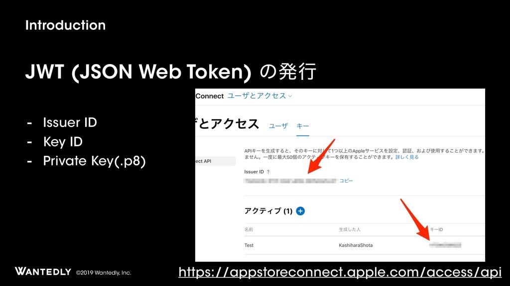 ©2019 Wantedly, Inc. Introduction JWT (JSON Web...