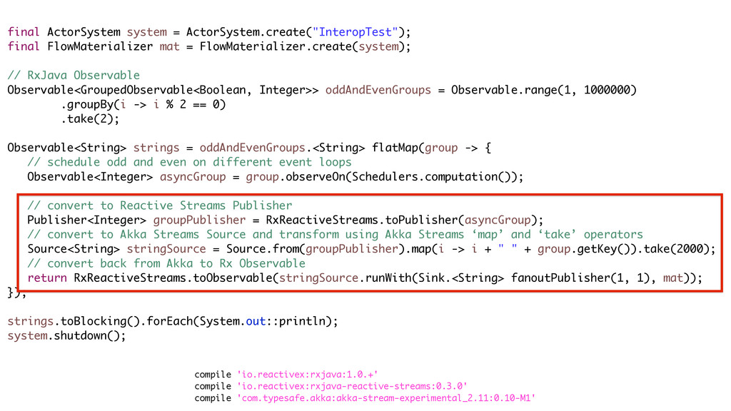 "final ActorSystem system = ActorSystem.create(""..."
