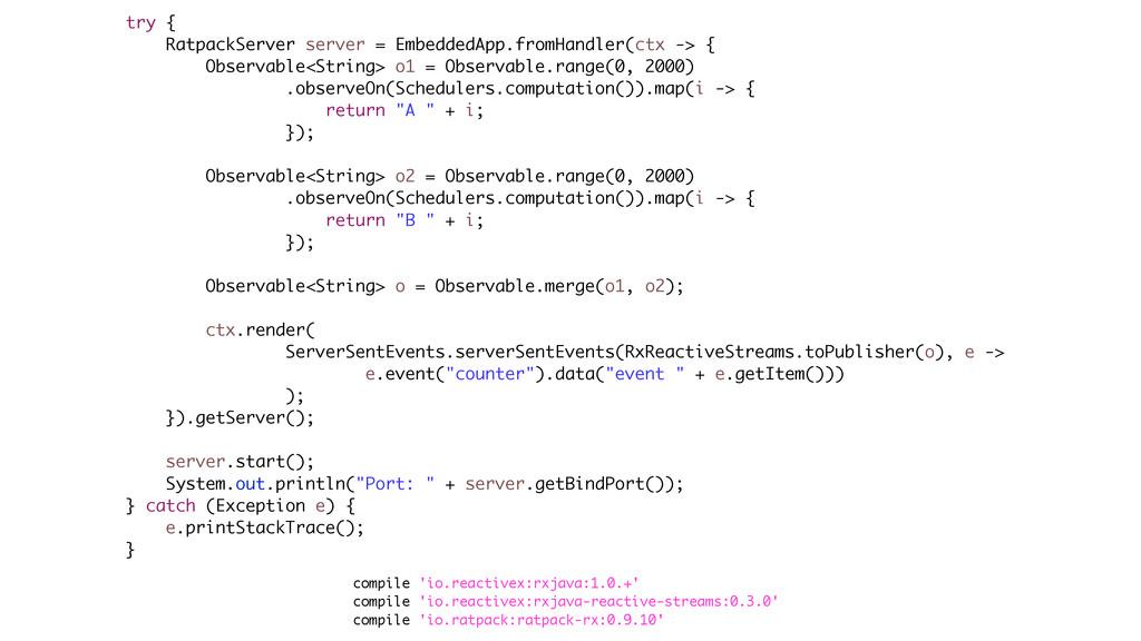 compile 'io.reactivex:rxjava:1.0.+' compile 'io...