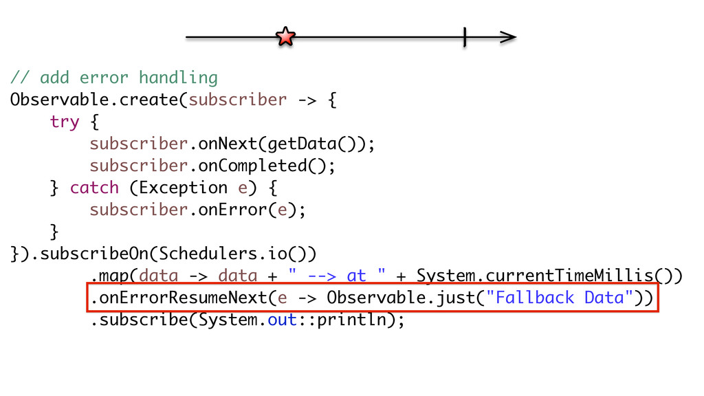 // add error handling Observable.create(subscri...
