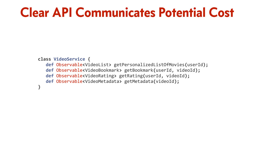 Clear API Communicates Potential Cost class	
