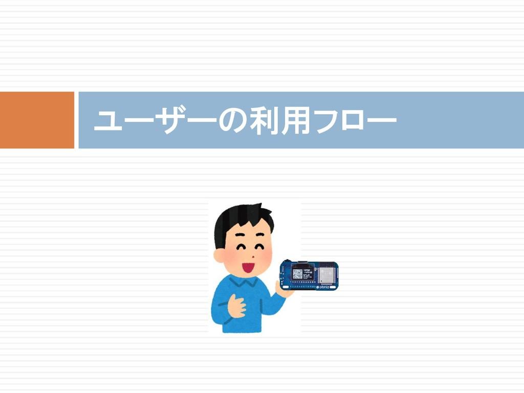 ユーザーの利用フロー