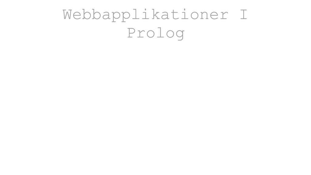Webbapplikationer I Prolog