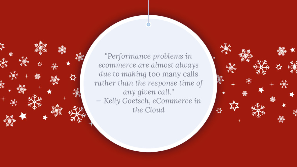 """Performance problems in ecommerce are almost a..."