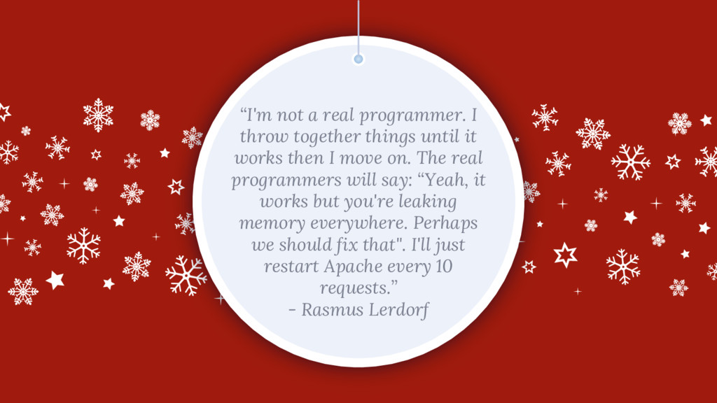 """I'm not a real programmer. I throw together th..."