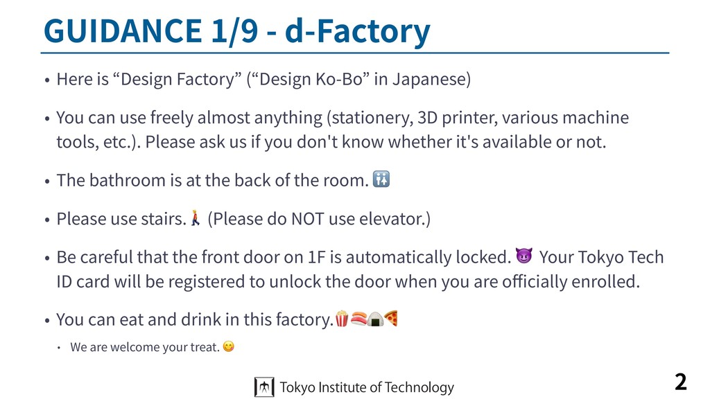 "GUIDANCE 1/9 - d-Factory • Here is ""Design Fact..."