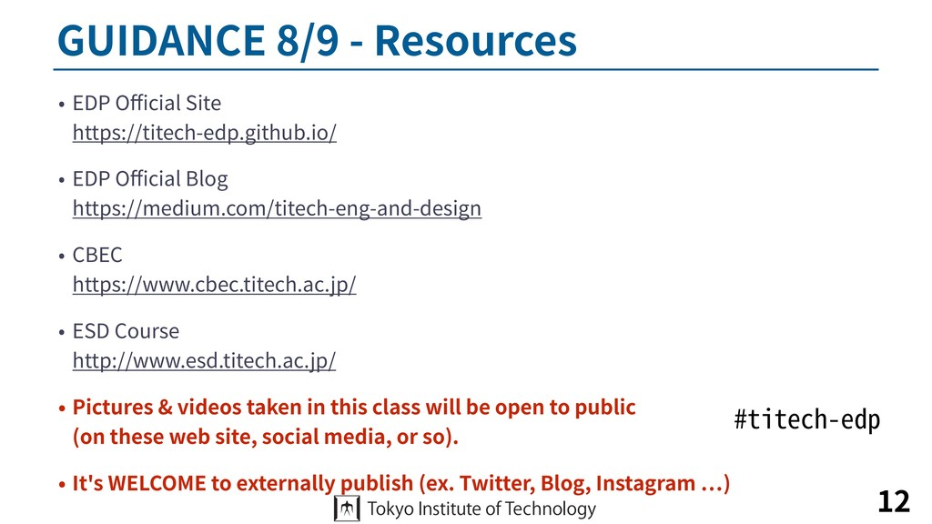 GUIDANCE 8/9 - Resources • EDP Official Site