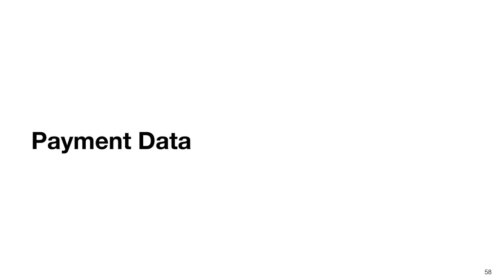 58 Payment Data