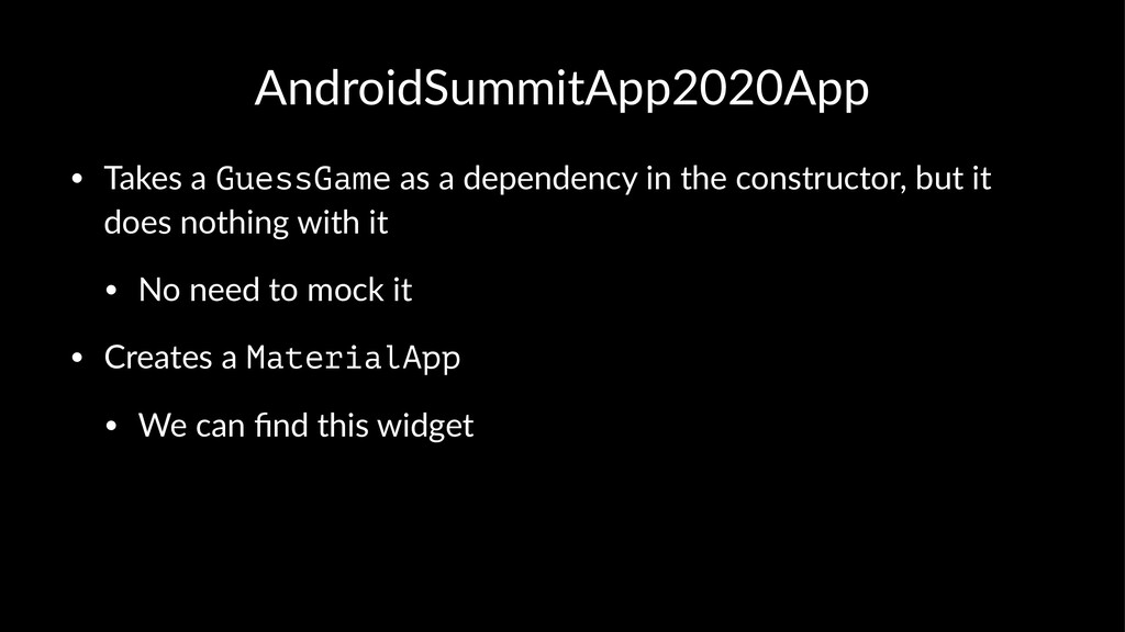 AndroidSummitApp2020App • Takes a GuessGame as ...