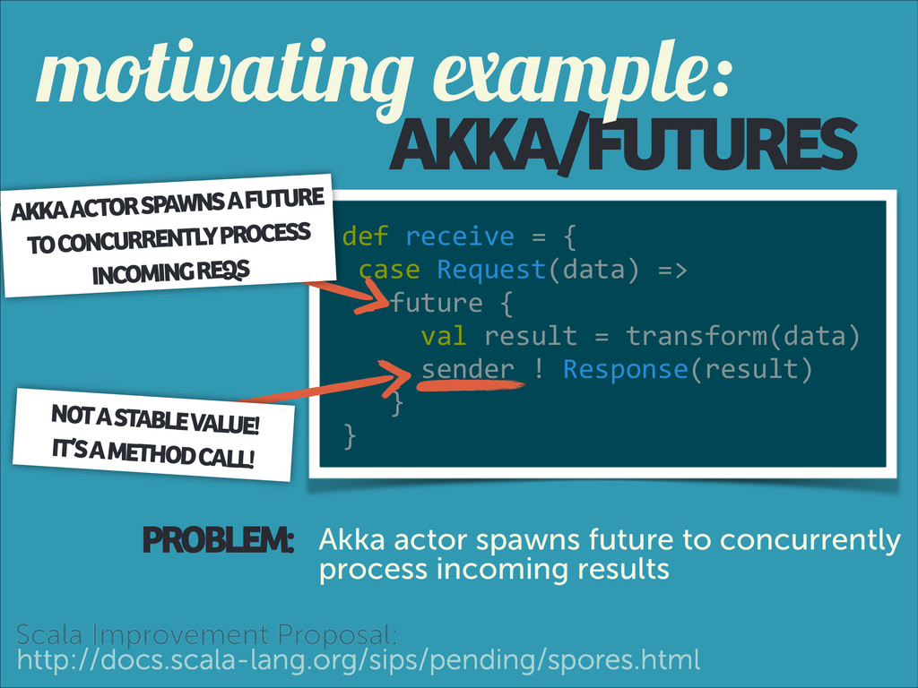 AKKA/FUTURES def receive = {   c...